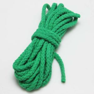 Cotton strings, Cotton, green, 3m x 5mm, [SKS062]